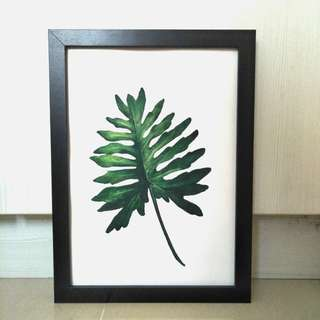 Tropical Leaf #2 (Watercolour Painting)