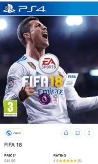 Fifa 18 PS 4 Game