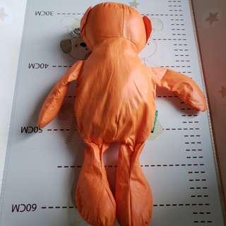 benetton橙色熊仔造型環保袋