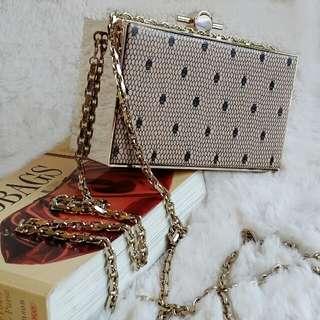 Jason Wu Karlie Box Clutch /Sling Bag