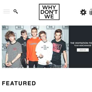 (Interests check) why dont we merch