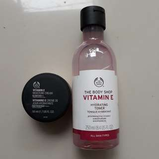 The Body Shop Vitamin E Toner and Moisturizer