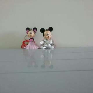 3D Disney Micky and Minnie Key Chain