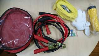 Car jump start cable kit