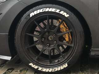 """Used 17"""" REP rims with michelin PS4 tyres"""