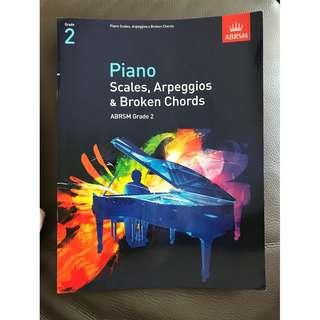 Piano Scales, Arpeggios & Broken Chords (Grade 2)