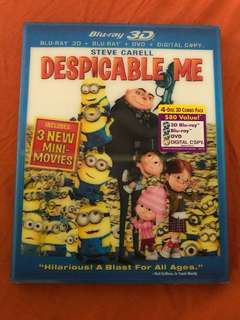 Despicable Me and Despicable Me 2 - 3D Blu-ray + Blu-ray
