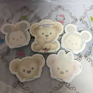 Last SET Left Disney Shelia May Tsum Tsum Mickey Mouse Minnie Duffy Bear Post it pad