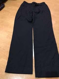 G2000 Black Pinstripped Straight Pants