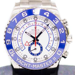 Preowned Rolex Yachtmaster II in Stainless Steel 116680