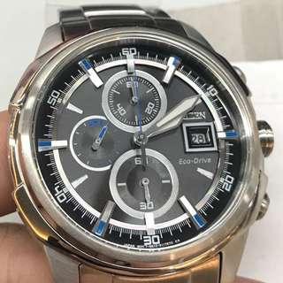 Citizen Eco drive chronograph CA0370-54E 光動