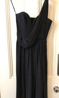 ZIMMERMANN black silk formal dress maxi size 0