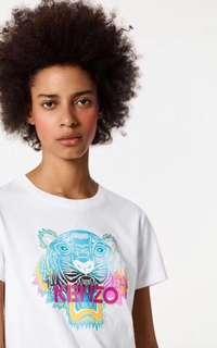Kenzo 2018 100%Real 可驗Tshirt women white tiger