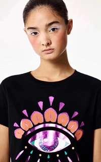 Kenzo 2018 100%Real 可驗Tshirt women black eye