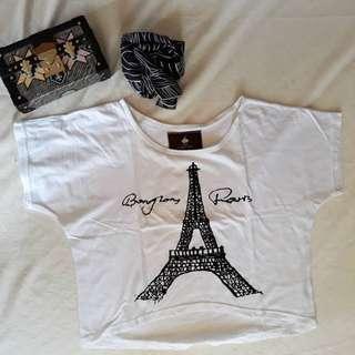 Paris crop tee
