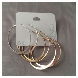 SET: Hoop Earrings