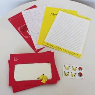 Pokemon Center Exclusive Pikachu Drawing Series Letter Set Pikachu Drawing Pink (Pre-order)