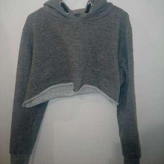 Light grey cropped hoodie