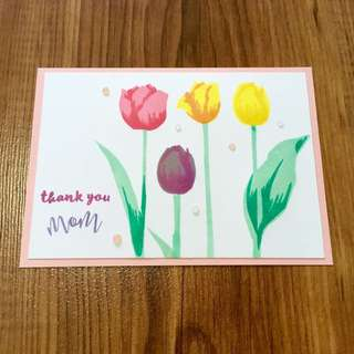 Handmade Mother's Day card (Tulips)