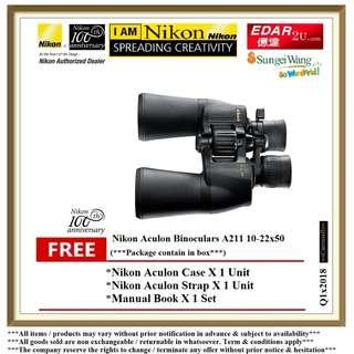 NIKON A211 10-22X50 ACULON BINOCULARS ««ORIGINAL & OFFICIAL NIKON»»
