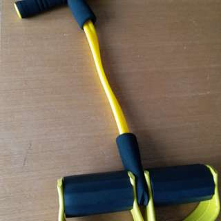 A tool for lady to exercise arms, waist and legs.It can be adjusted  on the pedals