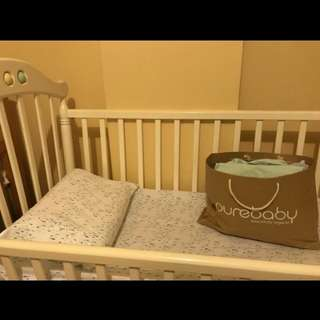 Brand new Baby Cot + 2mattress, fitted sheets, flat sheet, pillow cover and more
