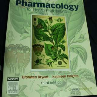 Pharmacology for Health Professionals textbook 3rd edition