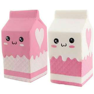 Boneka Squishy Lembut Bentuk Kotak Susu Sqsuihy Slow