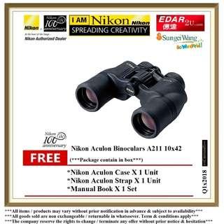 NIKON A211 10X42 ACULON BINOCULARS  ««ORIGINAL & OFFICIAL NIKON»»