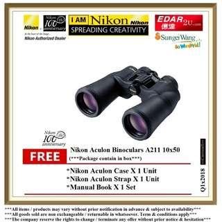 NIKON A211 10X50 ACULON BINOCULARS ««ORIGINAL & OFFICIAL NIKON»»