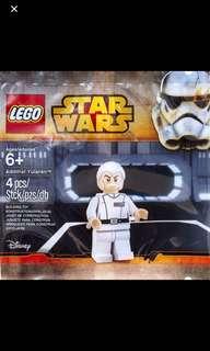 1x LEGO Star Wars The Clone Wars Admiral Yularen Polybag #5002947 $18/each