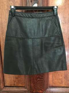 A-line Black PU/pleather skirt size 6/xs