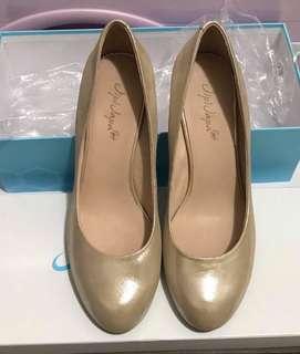 全新JipiJapa金色 3寸高踭鞋 size245 順豐到付