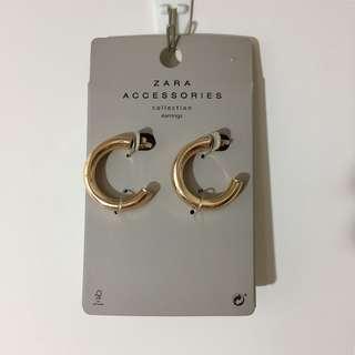 Zara gold hoop earrings