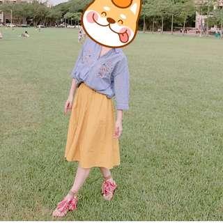 Gu 土黃圓裙 zara mercuryduo Titty&co mango snidel cocodeal