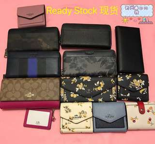 🇺🇸SALE! 💯% Authentic Coach Wallet / Purse For HIM & HER (ALL READY STOCK)!!!