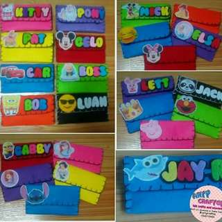 Mini wallet with theme design. Souvenirs and giftaways