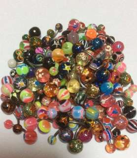 Acrylic Ball Belly/Navel Piercing Stud- Glitter/ Glow/Painted- 3 pieces for $5 ( NO MEET UPS)