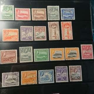 英屬安提瓜郵票三套