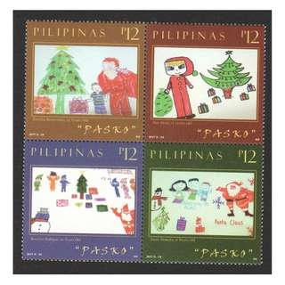 PHILIPPINES 2017 CHRISTMAS (CHILDREN'S DRAWING) BLOCK OF 4 STAMPS IN MINT MNH UNUSED CONDITION