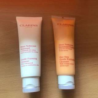 BN Clarins Gentle Foaming Cleanser/One-Step Gentle Exfoliating Cleanser