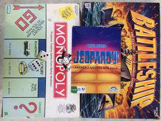 Classic Board Games - Set of 3