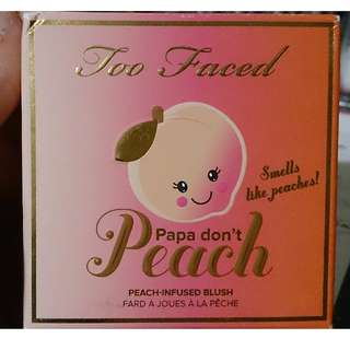 Too faced sweet peach - papa dont peach blush
