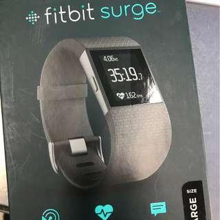 fitbit surge運動智能手錶九成新