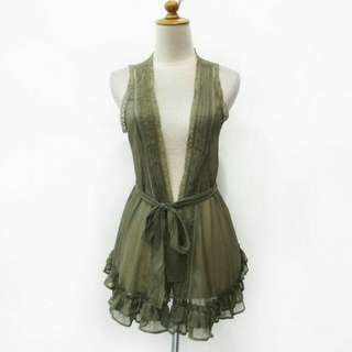 C87 Rompi Outwear Vest Green Outer Outerwear Luarab