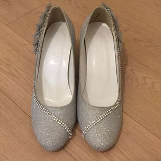 銀色姊妹鞋
