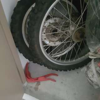 WR200 Stock Rims with tyres