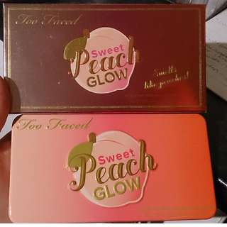 Too faced sweet peach glow highlighter palette