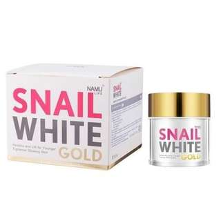 Snail White Gold by Namu Authentic and safe from Thailand. Whitens skin, firms skin and remove skin pigmentations
