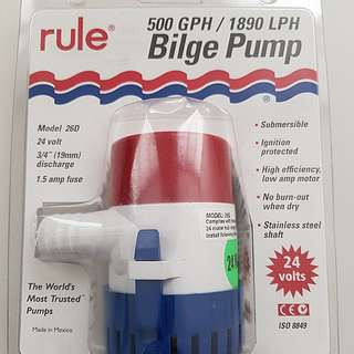 Rule 500GPH Submersible Bilge Pump